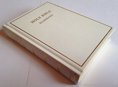 The Holy Bible, Oxford University Press, Illustrated Vintage White Hardback