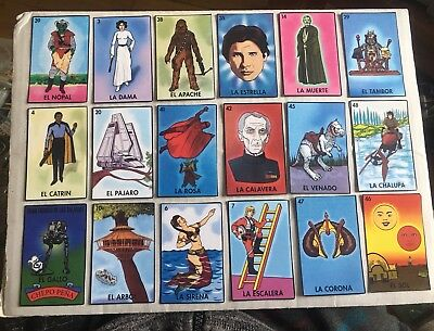Mexican Star Wars Bootleg Character Cards Lot 1 Of 16