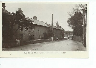 Real photo postcard of the High St West Runton Norfolk in vgc