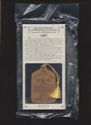 50th Anniversary commemorative of the 1943 Iowa homecoming badge Limited Edition