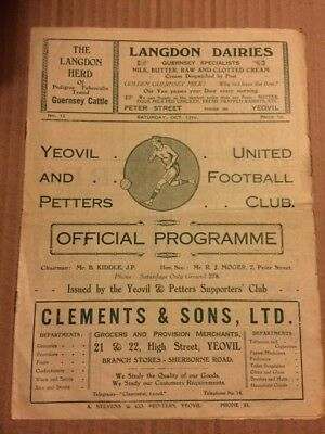 Yeovil and Petters United V Wells 1934-1935 FA Cup