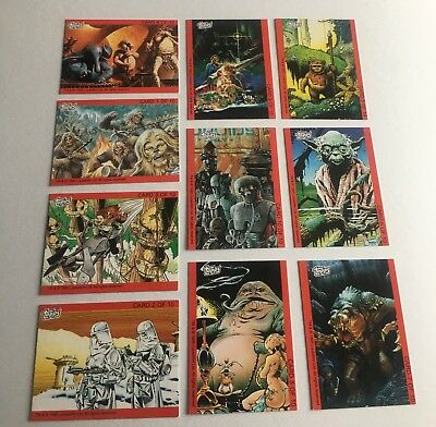 Topps Ireland Star Wars Art Trading Card Set #1-10