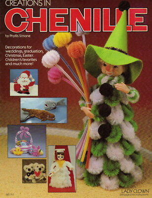 Vintage Creations in Chenille Craft Pattern Book Xmas/Holidays/Ornaments