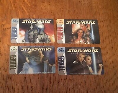 AOTC Tower Records Star Wars Gift Card Set