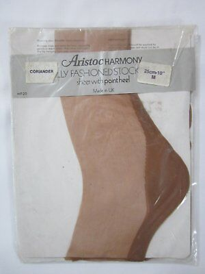 Vintage ARISTOC HARMONY STOCKINGS SHEER Fully Fashioned Seamed Point Heel 10""