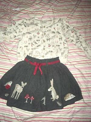 Next Cardigan And Skirt 12-18months