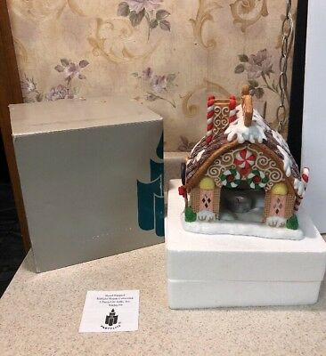 Partylite Gingerbread Tealite House Ceramic Christmas Village P7304 in Box