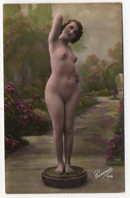 1900s Real Photo  Corona Nude French Postcard 198