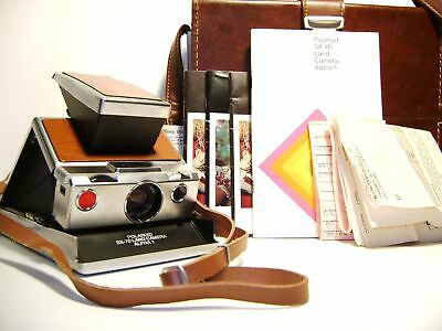 Polaroid SX-70 Alpha One Camera With Original Case and Manuals