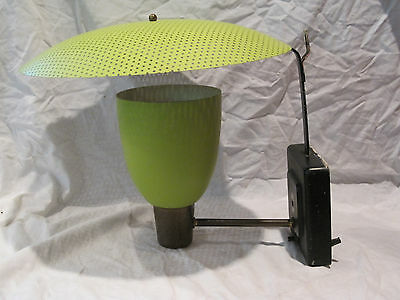 Mid Century Modern AWESOME Green Wall Sconce Light Fixture