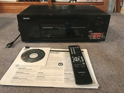 Denon AVR 1513 5.1 Channel 165 Watt Receiver   Gently Used No-Reserve