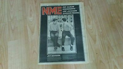 NME New Musical Express 8/11/1979 Magazine Joy Division cover Led Zeppelin queen