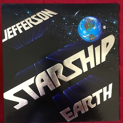 Rare JEFFERSON STARSHIP: Earth PROMO ALBUM ART 12X12 Suitable For Framing
