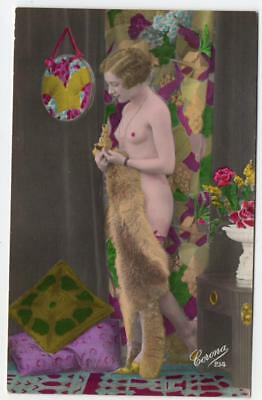 1900s Real Photo  Corona Nude French Postcard 214