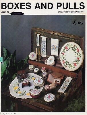 Boxes and Pulls Cross Stitch Book - Helen Halverson Designs - Flowers - 1986