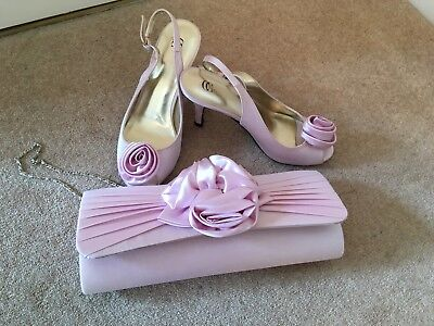 Country Casuals Rose Matching Shoes (size 4) And Bag, Pink
