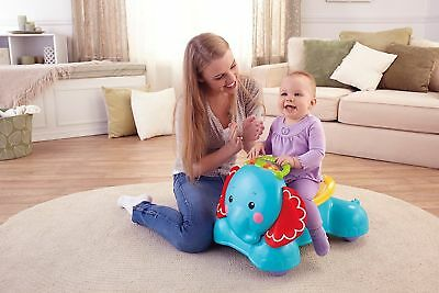 Fisher-Price 3-in-1 Bounce Stride And Ride Elephant Toddler Toy Age 9 months+