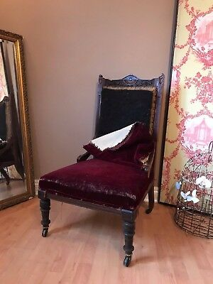 Antique Victorian Chair on castors to Recover Refurb Project PICKUP NOTTS