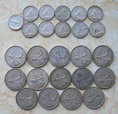 Canada Silver Coin Lot $4.60 Face