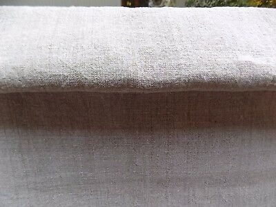 antique homespum Raw Hemp Fabric 3,8x0,66m 19thC Gray Great condition