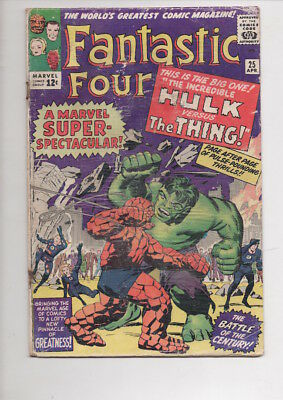 FANTASTIC FOUR #25 comic book/from 1964/HULK vs THING story/ONLY $19.95!