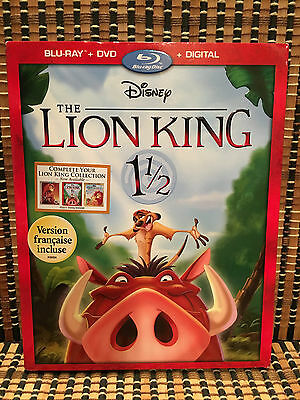 The Lion King 1 1/2 (2-Disc Blu-ray/DVD, 2017)+Embossed Slipcover.Disney.