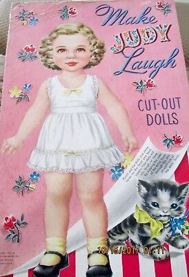 Vintage Original 1952 MAKE JUDY LAUGH PAPER DOLLS BY WHITMAN #118815 VG+ UNUSED
