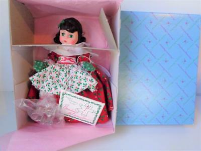 "Madame Alexander Lil Christmas Cookie WENDY 8""  Holiday Doll Mint in Box #341"