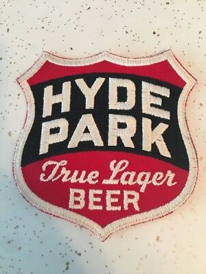 """NOS Hyde Park Beer Patch 5 1/2"""" X 6 """" / St.Louis Beer"""