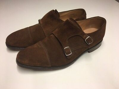 Brown Loake 1880, Double Monk - Suede Leather