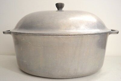 """Vintage HOUSEHOLD INSTITUTE Aluminum Roaster Roasting Pan 12"""" x 9"""" - Made in USA"""