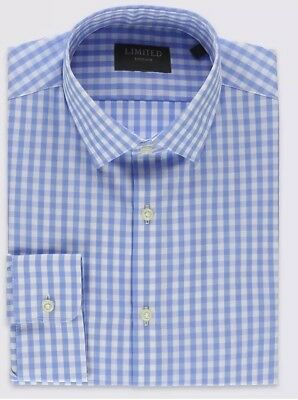 Marks And Spencer Mens Shirt 16.5size Limited editon checked shirt