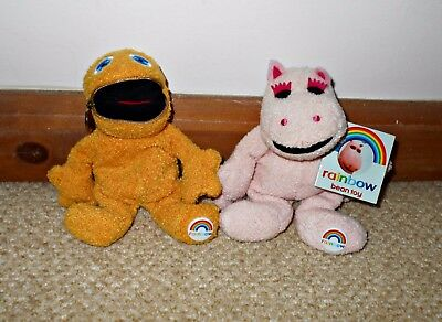Beanie Zippy and George from Rainbow, Childrens vintage/retro TV programme