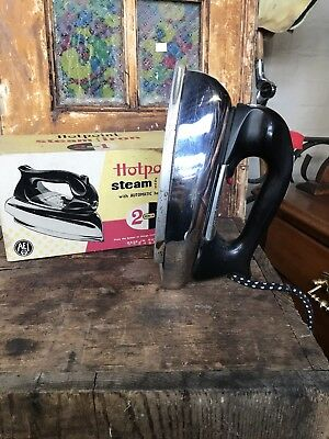 Hot Point Iron With Original Box ~ Vintage Iron