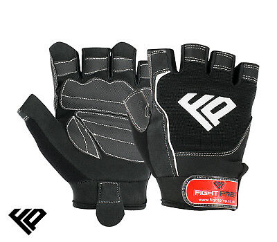 FP Gel Weight Lifting Body Building Gloves Gym Straps Training Leather Training