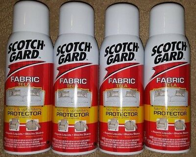 LOT OF 4 ScotchGard 157 Fabric & Upholstery Protector 10 oz Aresol FREE SHIPPING
