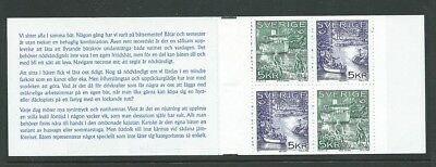 Sweden 1995 Norden Tourist attractions Facit H459 MNH Booklet - SEE BOTH PHOTOS