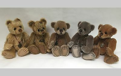 Looking for Charlie Bears Minimo Vintage Bears? We can help! Set of 5, #500/2000