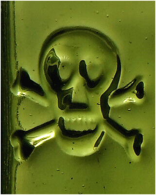 very nice large KH-16 Poison with pair of embossed Skulls.