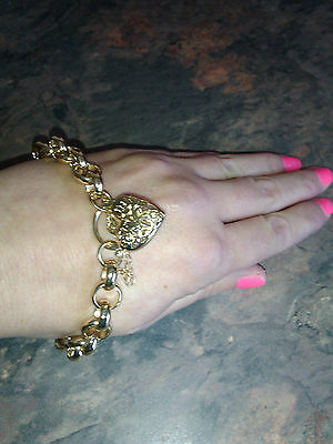 Gold Solid Fancy Belcher Bracelet