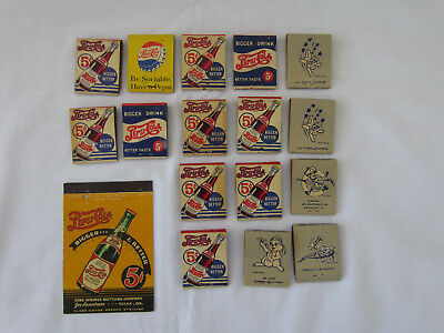 Lot of 16 Vintage Pepsi Matchbooks, Double Dot, Military