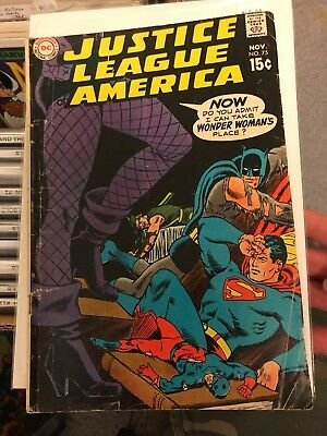 DC JUSTICE LEAGUE of AMERICA #75 Black Canary Joins The JLA