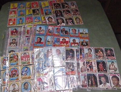 1968 1970 1971 1973 1974 1975 Topps Football & 1972 1975 Topps Basketball Cards