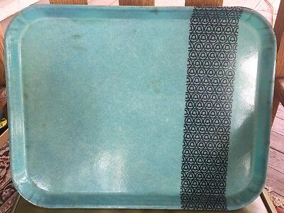 Vintage Fiberglass Camtray Bell Telephone Advertising Lunch Tray Turquoise