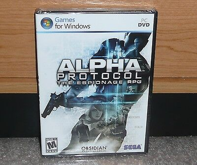 PC -  ALPHA PROTOCOL PC GAME (Brand NEW Sealed) PC DVD worldwide shipping