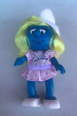 "Vintage PEYO Applause 1983 SMURF Cartoons SMURFETTE Girl  5"" DOLL Toy"
