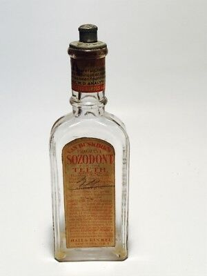 Van Buskirk's Fragant Sozodont For The Teeth & Breath Bottle With Label
