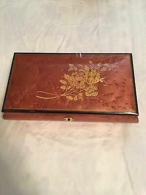 VINTAGE THE SAN FRANCISCO WOODEN MUSIC BOX MADE IN ITALY created by Donato
