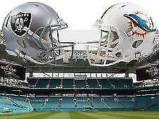 2 TICKETS CLUB LEVEL VIP DOLPHINS vs OAKLAND RAIDERS 11/05/17 830 PM PRIME TIME