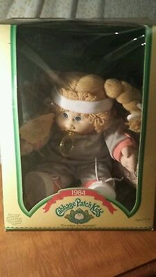 1984 Cabbage Patch Kid BlONDE BLUE EYED DIMPLES PACIFIER Cloris Reba